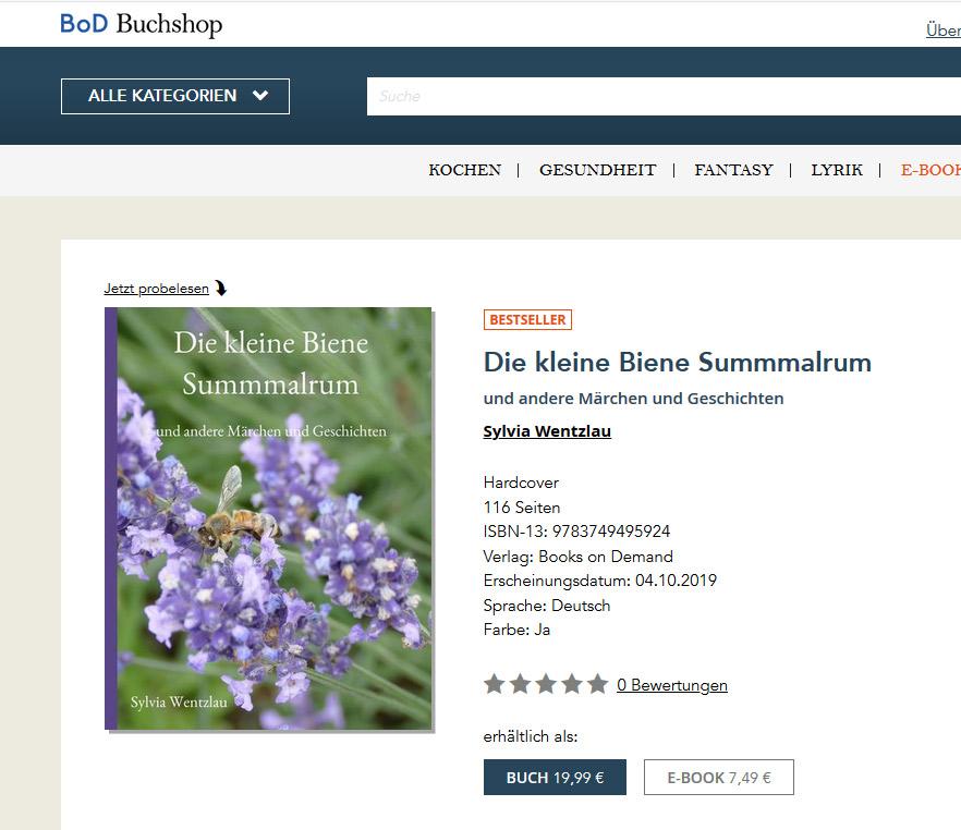 Mein Buch die kleine Biene Summmalrum und andere Märchen und Geschichten.